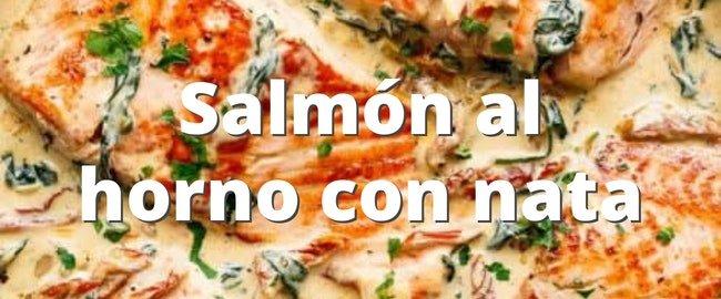 Salmón al horno con nata